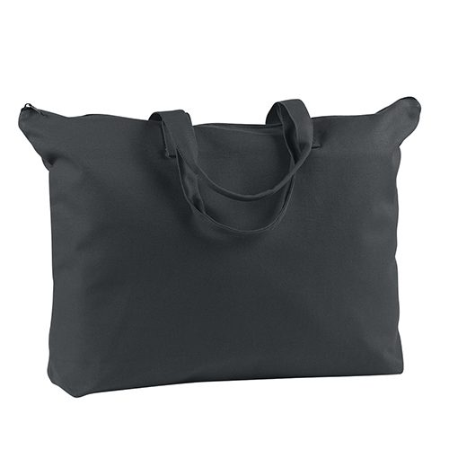 BE009-BAGedge 12oz. Canvas Zippered Book Tote