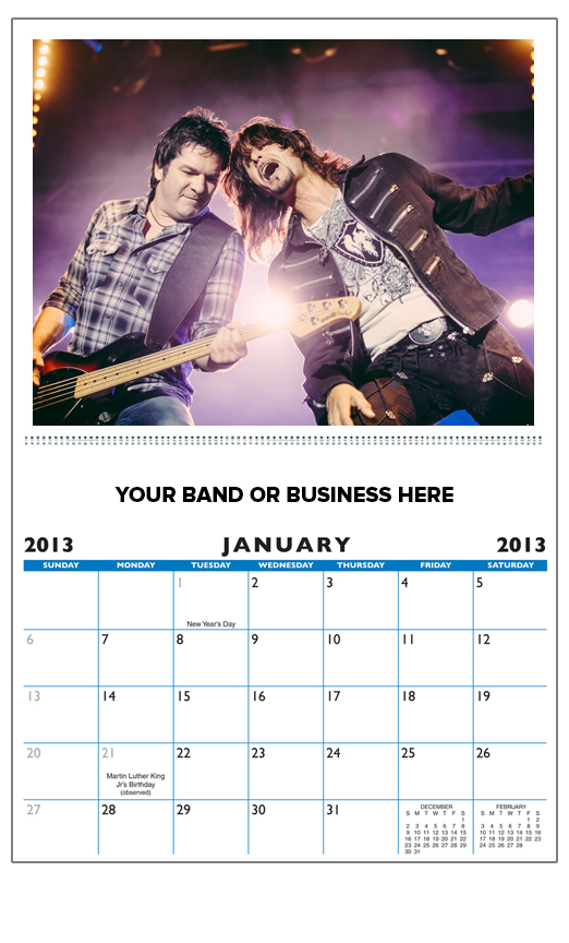 Deluxe Wire-O 13 Photo Custom Picture Calendars