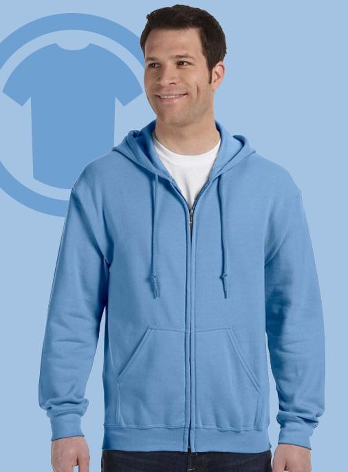 """alt=""""gildan zip up hoodie sweatshirt"""""""