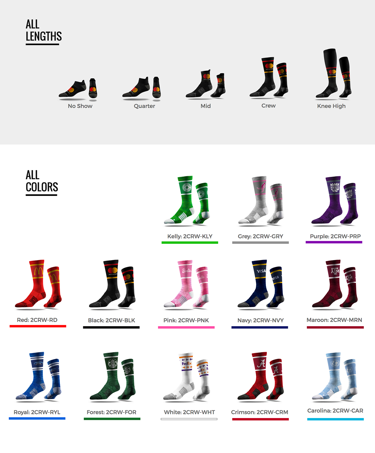 socks-lengths-colors